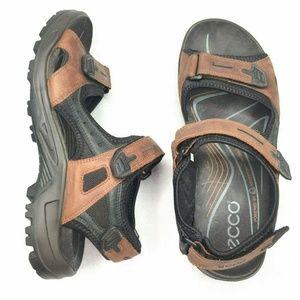 Ecco Shoes - ECCO Yucatan Sport Sandal Brown Black Leather